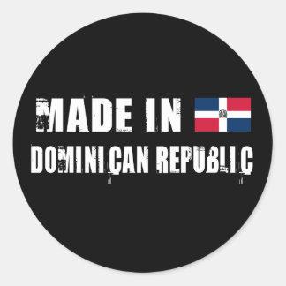 Hecho en la República Dominicana Pegatinas Redondas