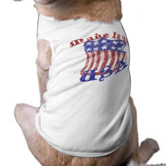 Hecho en la ropa del mascota de los E.E.U.U. Playera Sin Mangas Para Perro