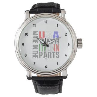 Hecho en las piezas del italiano del ingenio de reloj de mano