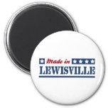 Hecho en Lewisville Imán De Frigorífico