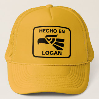 Hecho en Logan personalizado custom personalized Trucker Hat