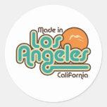 Hecho en Los Ángeles Etiqueta Redonda