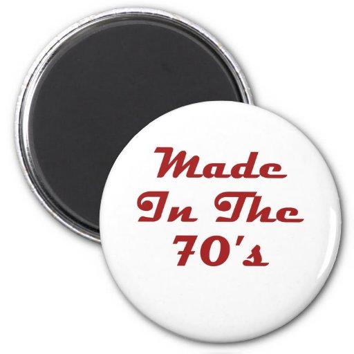 Hecho en los años 70 imanes para frigoríficos