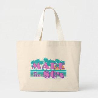 Hecho en los años 80 bolsa de tela grande