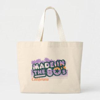 Hecho en los años 80 bolsas lienzo