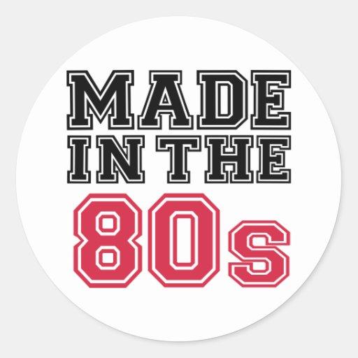 Hecho en los años 80 etiqueta redonda