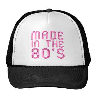 Hecho en los años 80 gorros bordados