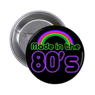 Hecho en los años 80 pin