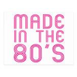 Hecho en los años 80 postal