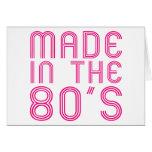 Hecho en los años 80 tarjetón