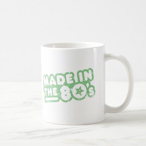 Hecho en los años 80 tazas de café