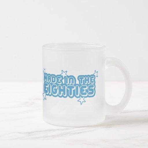 Hecho en los años ochenta (80s) taza de cristal