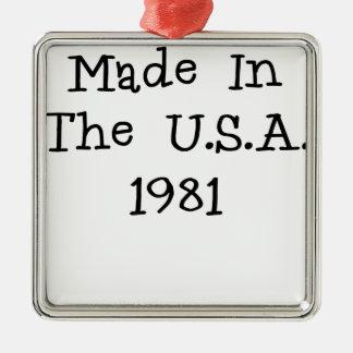 Hecho en los E E U U 1981 png Ornamentos De Navidad