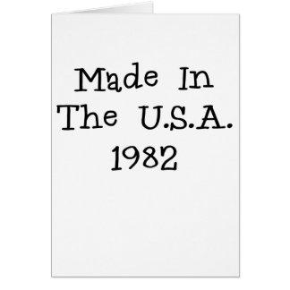 Hecho en los E E U U 1982 png Felicitaciones