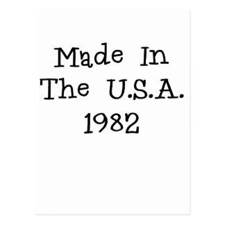 Hecho en los E E U U 1982 png Postales