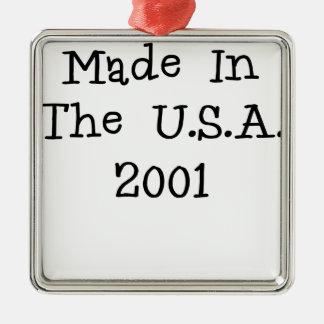 Hecho en los E E U U 2001 png Ornamentos De Navidad