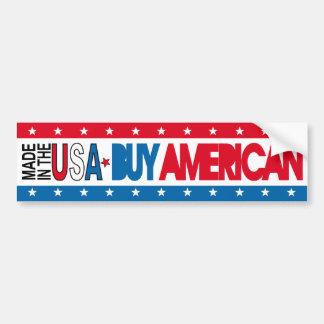 Hecho en los E.E.U.U. - compre al americano Etiqueta De Parachoque