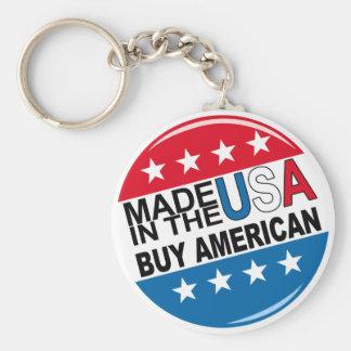 Hecho en los E.E.U.U. - compre al americano Llavero Redondo Tipo Pin