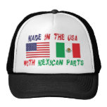 Hecho en los E.E.U.U. con el mexicano parte a la m Gorro De Camionero