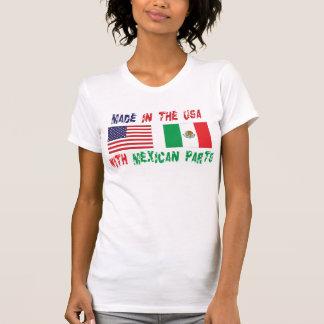 Hecho en los E.E.U.U. con el mexicano parte a la m Camiseta