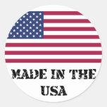 Hecho en los E.E.U.U. Etiquetas Redondas