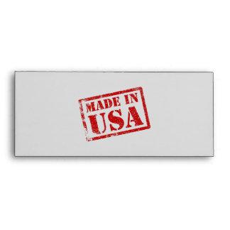 Hecho en los E.E.U.U., hechos en América Sobres