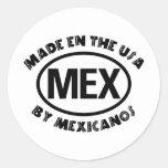 Hecho en los E.E.U.U. por Mexicano Etiqueta Redonda