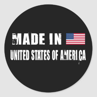 Hecho en los Estados Unidos de América Pegatinas Redondas