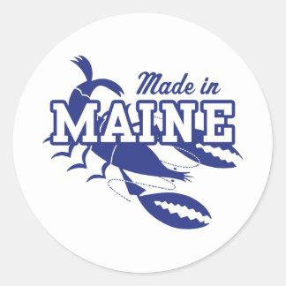 Hecho en Maine Pegatina Redonda