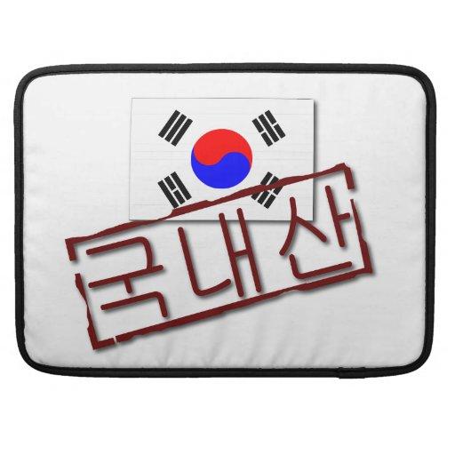 Hecho en mangas de Macbook de la Corea del Sur las Fundas Para Macbook Pro