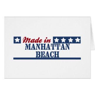 Hecho en Manhattan Beach Tarjeta