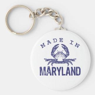Hecho en Maryland Llavero Redondo Tipo Pin