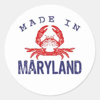 Hecho en Maryland Pegatina Redonda