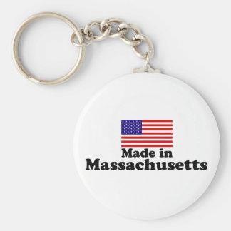 Hecho en Massachusetts Llavero Redondo Tipo Pin