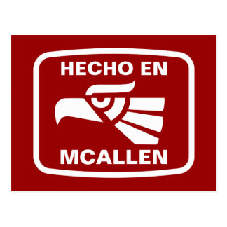 Hecho en McAllen personalizado custom personalized Postcard