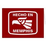 Hecho en Memphis personalizado custom personalized Greeting Card