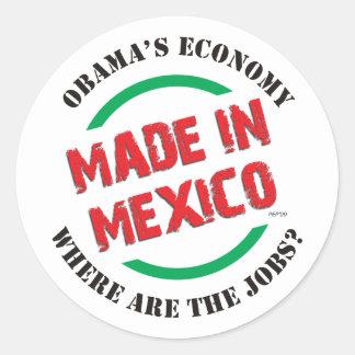 Hecho en México Pegatina Redonda