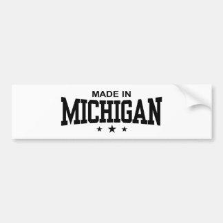 Hecho en Michigan Etiqueta De Parachoque