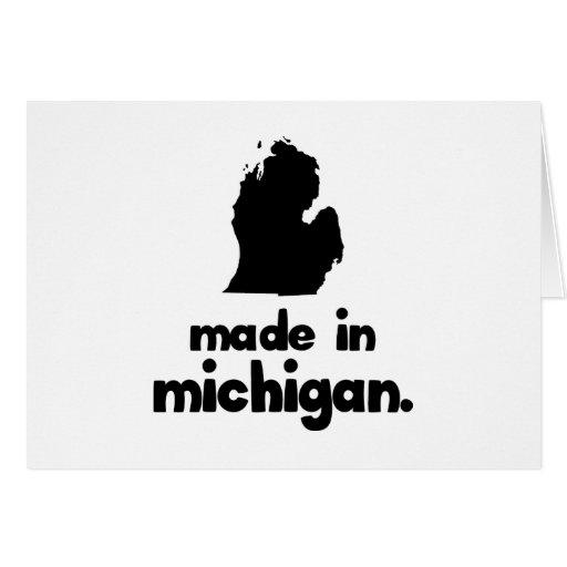 Hecho en Michigan Felicitacion