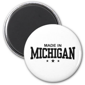 Hecho en Michigan Imán Redondo 5 Cm