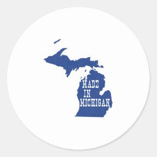 Hecho en Michigan Etiqueta Redonda
