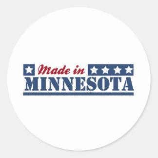Hecho en Minnesota Pegatina Redonda