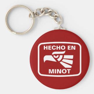 Hecho en Minot  personalizado custom personalized Basic Round Button Keychain