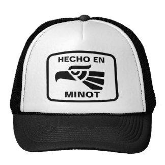 Hecho en Minot  personalizado custom personalized Mesh Hat