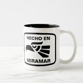 Hecho en Miramar personalizado custom personalized Two-Tone Coffee Mug