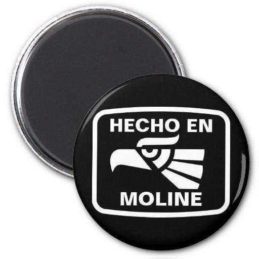 Hecho en Moline personalizado custom personalized 2 Inch Round Magnet