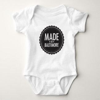 Hecho en mono del bebé de Baltimore Body Para Bebé