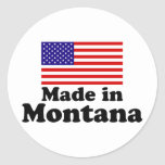 Hecho en Montana Etiqueta Redonda