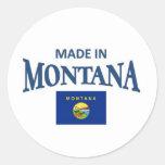Hecho en Montana Pegatina Redonda