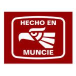 Hecho en Muncie personalizado custom personalized Postcard